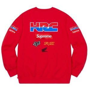 Supreme Honda Fox Racing Crewneck Red